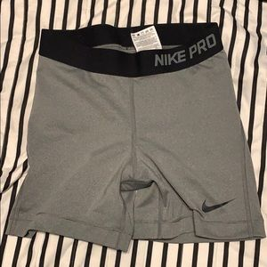 Gray Nike compression shorts - spandex